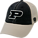 Front view of Top of the World Purdue Boilermakers College Heritage Offroad Trucker Adjustable Hat in Three Tone Team Colors