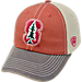 Front view of Top of the World Stanford Cardinal College Heritage Offroad Trucker Adjustable Hat in Three Tone Team Colors