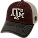 Front view of Top of the World Texas A&M Aggies College Heritage Offroad Trucker Adjustable Hat in Three Tone Team Colors
