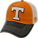 Front view of Top of the World Tennessee Volunteers College Heritage Offroad Trucker Adjustable Hat in Three Tone Team Colors