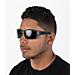 Back view of Oakley Turbine Sunglasses in Matte Grey Ink