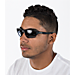Back view of Oakley Flak Beta Sunglasses in Grey/Matte Black