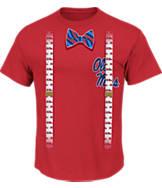 Men's Majestic Mississippi Rebels College Bowtie T-Shirt