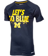 Men's Michigan Wolverines College Cracked T-Shirt