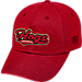 Front view of Top of the World Arkansas Razorbacks College Heritage Park Adjustable Back Hat in Team Colors