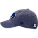 Back view of Top of the World Duke Blue Devils College Heritage Park Adjustable Back Hat in Team Colors