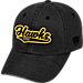 Front view of Top of the World Iowa Hawkeyes College Heritage Park Adjustable Back Hat in Team Colors