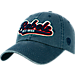 Front view of Top of the World Mississippi Rebels College Heritage Park Adjustable Back Hat in Team Colors