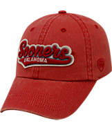 Top of the World Oklahoma Sooners College Heritage Park Adjustable Back Hat