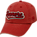 Front view of Top of the World Oklahoma Sooners College Heritage Park Adjustable Back Hat in Team Colors