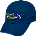 Front view of Top of the World West Virginia Mountaineers College Heritage Park Adjustable Back Hat in Team Colors
