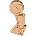 Front view of Pin God Champions Pin in Gold