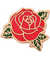 Pin God Rose Polished Enamel Pin