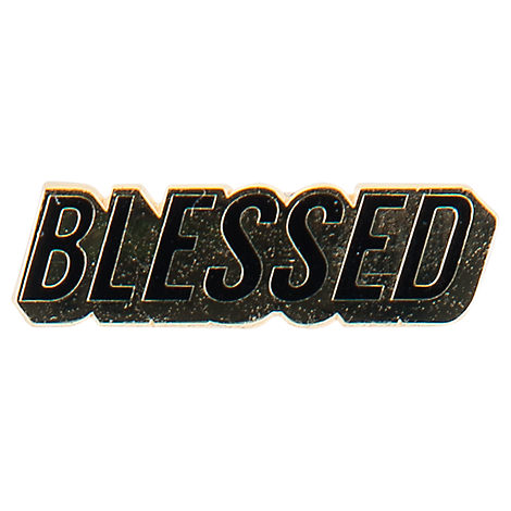 Pin God Blessed Enamel Pin