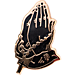 Front view of Pin God Rosary Enamel Pin in Black
