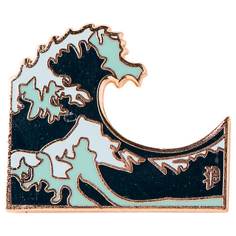 Pin God Wave Polished Enamel Pin