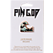 Back view of Pin God Wave Polished Enamel Pin in Navy