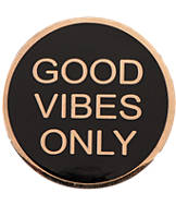 Pin God Good Vibes Only Enamel Pin