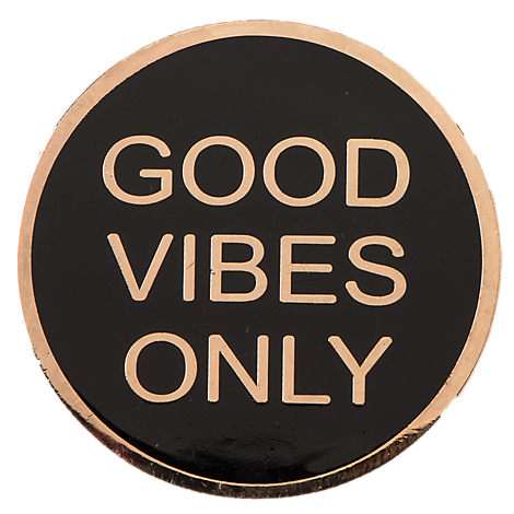 Pin God Good Vibes Only Pin