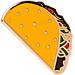 Front view of Pin God The Taco Pin in Taco