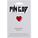 Back view of Pin God The Heart Pin in Red