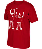 Men's adidas Indiana Hoosiers College Fists and Blades T-Shirt
