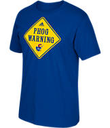 Men's adidas Kansas Jayhawks College Phog Warning T-Shirt