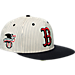 Front view of 47 Brand Boston Red Sox MLB Woodside Snapback Hat in White