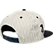 Back view of 47 Brand Boston Red Sox MLB Woodside Snapback Hat in White