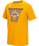 Men's adidas Los Angeles Lakers NBA CL Net Web T-Shirt