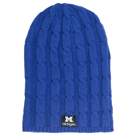 Women's Zephyr Michigan Wolverines College Posh Knit Slouch Beanie