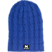 Front view of Women's Zephyr Michigan Wolverines College Posh Knit Slouch Beanie in Team Colors