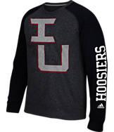 Men's adidas Indiana Hoosiers College On The Line Crew Sweatshirt