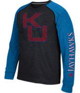 Men's adidas Kansas Jayhawks College On The Line Crew Sweatshirt