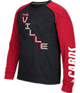 Men's adidas Louisville Cardinals College On The Line Crew Sweatshirt