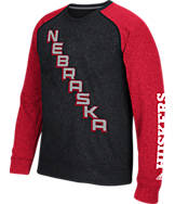 Men's adidas Nebraska Cornhuskers College On The Line Crew Sweatshirt