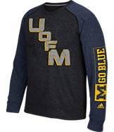 Men's adidas Michigan Wolverines College On The Line Crew Sweatshirt