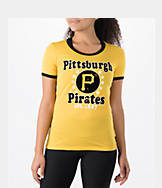 Women's New Era Pittsburgh Pirates MLB Vintage Ringer T-Shirt