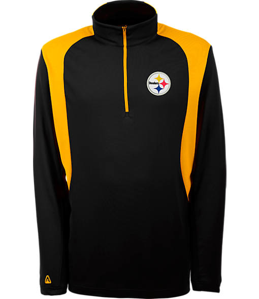 Men's Antigua Pittsburgh Steelers NFL Delta Quarter Zip Shirt