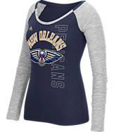 Women's adidas New Orleans Pelicans NBA Team Liquid Long Sleeve Shirt