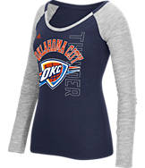 Women's adidas Oklahoma City Thunder NBA Team Liquid Long Sleeve Shirt