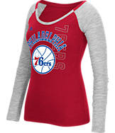 Women's adidas Philadelphia 76ers NBA Team Liquid Long Sleeve Shirt