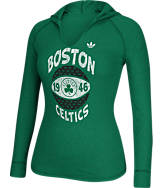 Women's adidas Boston Celtics NBA Retro Baller Hooded Shirt