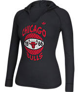 Women's adidas Chicago Bulls NBA Retro Baller Hooded Shirt