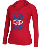 Women's adidas Detroit Pistons NBA Retro Baller Hooded Shirt