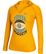 Women's adidas Denver Nuggets NBA Retro Baller Hooded Shirt