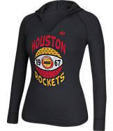 Women's adidas Houston Rockets NBA Retro Baller Hooded Shirt