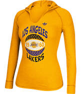 Women's adidas Los Angeles Lakers NBA Retro Baller Hooded Shirt