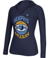 Women's adidas Memphis Grizzlies NBA Retro Baller Hooded Shirt