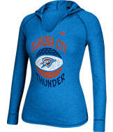 Women's adidas Oklahoma City Thunder NBA Retro Baller Hooded Shirt